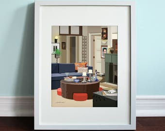 Will's Apartment - Will & Grace, Will and Grace TV Show Art Print, TV sitcom