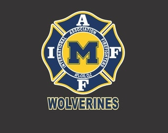 IAFF Michigan Wolverines Car Decal for Union Firefighters - Free Shipping