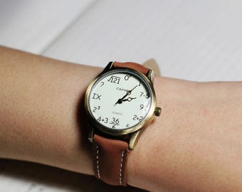 Couples watch,Wrist watch, Women Watch, Leather Watch ,Birthday gift, special gift