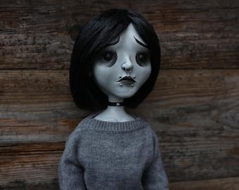 "Large 20.5"" posable OOAK sad doll Alexandra (Mims Victims)"