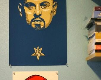 "Anton LaVey 11x17"" Screen Printed Poster"