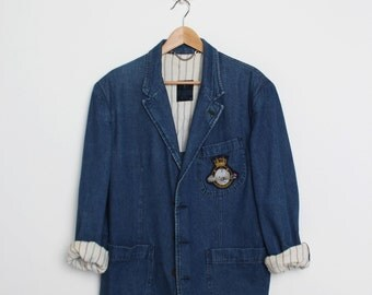 VALENTINO original jeans jacket 80's/90's man // made in italy