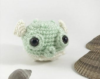 Amigurmi Baby Puffer Fish, Crochet Puffer Fish, Sea Creature, Stuffed Animal, Plush Fish, Aquatic, Crochet Fugu,  Crochet Fish, kawaii