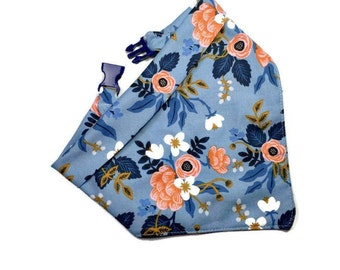 Floral Dog Bandana - Fabric by Rifle Paper - Ideal Dog Gifts - Monogrammed Dog Scarf