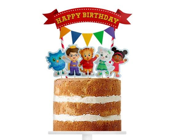 Daniel Tiger cupcake toppers Daniel Tiger cake topper Daniel