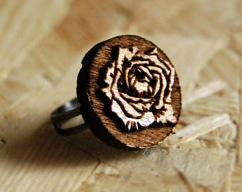 Wood ring Wooden ring Woman ring Womens ring Woman gift Girlfriend gift Mother gift Sister gift Birthday gift Wife gift Anniversary gift