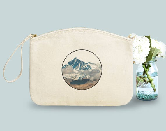 Mountain, Pouch, organic cotton, gift sister, gift woman, gift coworker, novelty.