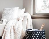 Crochet Pattern / Chunky Fair Isle Basket  / THE ALPINE Basket