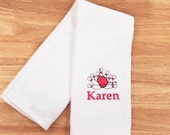 Personalized Sports Towel Bowling Hand Towel Monogrammed Bowling Towels