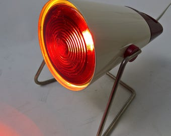 Philips Infraphil Lamp, Infra-Red, Made in Holland, Healthe Lamp, Heat Lamp, Kl 5700, 60's 70's