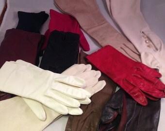 Vintage Ladies Gloves, Short Gloves, Long Gloves, Vintage Gloves,Evening Gloves, Easter Gloves, Lot of 11