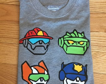 Rescue Bot Birthday Shirt, rescue bot shirt, rescue bot birthday, transformer party,  Rescue bot party, transformers rescue bots
