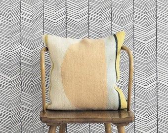 Geometric pattern vinyl wallpaper, self adhesive, temporary, removable nursery mb078