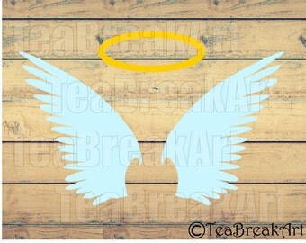 Angel Wings Cutting Files SVG PNG EPS ClipArt Instant Download iron on heat transfer shirt decal 537C