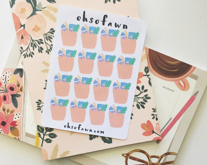 Grocery Bag Hand Drawn Planner Stickers