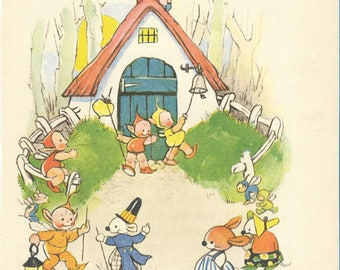 Vintage 1940s Mabel Lucie Attwell Illustration Featuring The Boo Boos