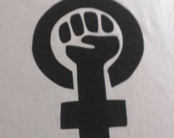 Kid's Feminist Symbol Screen Print T-shirt in Kids S-L