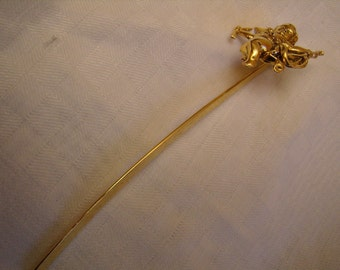 Bookmark vintage brass, gold Cherub, bookmark book reading spring