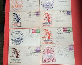 World War II Naval Ship Covers and Cancelled Stamps