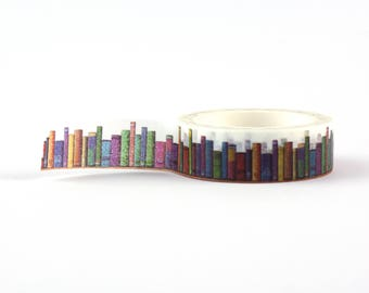 Books Washi Tape - book lover, decorative masking tape, 10 meter, littleleftylou