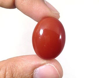 Carnelian Cabochon 30Ct (21x16x9 mm) Oval Shape Natural Gemstone  NS-13293