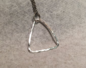 Simple Hammered Sterling Silver Necklace