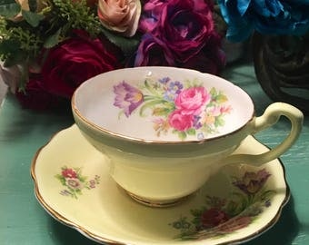"""Beautiful Antique Yellow """"Foley Tuips"""" Tea Cup"""