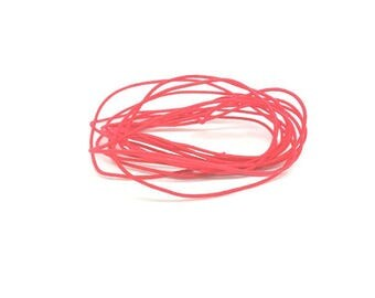 27 m wire elastic round red 1 mm