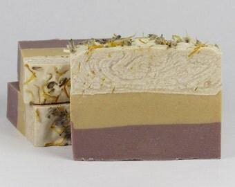 Goat Milk Soap - Lemon Lavender Soap - Shea Butter Soap - Homemade Soap - Handmade Soap - Cold Process soap - Gift for Her