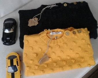 Popcorn sweater , handknitted