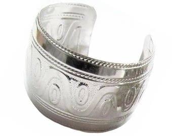 New Silver Toned Cuff Bangle