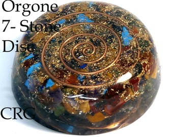 DISC with 7-stones and Copper Mix (OR13DG)