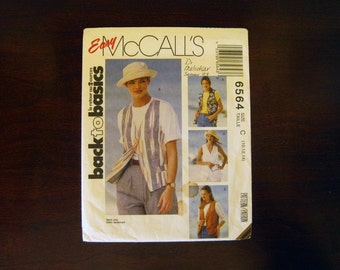 Misses' Lined Vest in Two Lengths – Vintage Easy McCall's 6564 Sewing Pattern – Sizes: 10, 12, 14 - Back to Basics
