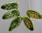 ceramic leaves boho beads ceramic components artisan elements handcrafted ceramic beads zolanna handmade components for jewelry making