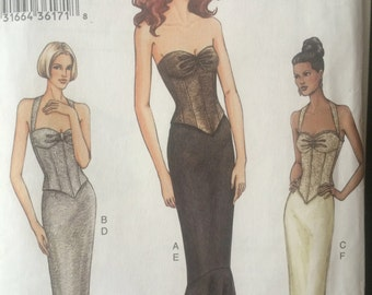 Gorgeous Bustier and Mermaid Skirt Pattern---Vogue 7698