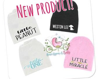Baby beanies, newborn hat, newborn hospital hat, newbirn gift, newborn shower gift, baby gift, baby hat, baby beanie, personalized baby hat