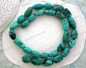 Turquoise Beads, 1 Strand 11 to 20mm Genuine Chinese Turquoise Beads, Semi Precious Stone Beads, Real Turquoise Beads SEM-019-1