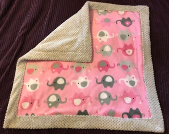 Minky Fleece Baby Receiving Blanket