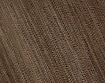 6/8-Ash Brown-100% Human Hair Flip-in(Halo style) extension