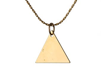 Minimal Dainty Triangle 14K Gold Filled Pendant Necklace Layering Necklace Choker Jewellery Handmade Free UK delivery GP38