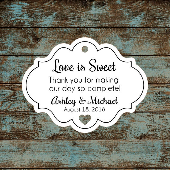 Love is Sweet Favor Tags - Qty: 30 Tags