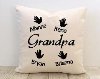 Grandpa Pillow Cover, Father's Day Pillow Cover, Papa Pillow Cover, Abuelo Pillow Cover, Love Pillow Cover