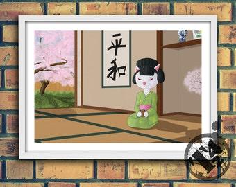 Tea - Original Art Digital Poster or Postcard