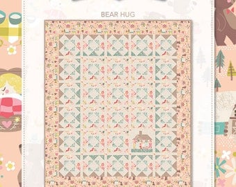 "Bear Hug Quilt Kit with Goldilocks Fabric by Jill Howarth for Riley Blake Designs- Finished Quilt Size  54"" x 63"""