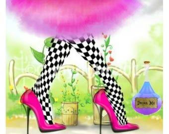 Pink Green Etsy Banner Cover  Shoes Tutu Springtime DIY Icon Blank Shop Store Drink Me Avatar Set Instant Digital Download
