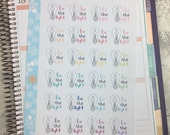 Be The Light Stickers! 1 punched sheet, for your Erin Condren Life Planner, Plum Planner,  Filoflax, calendar