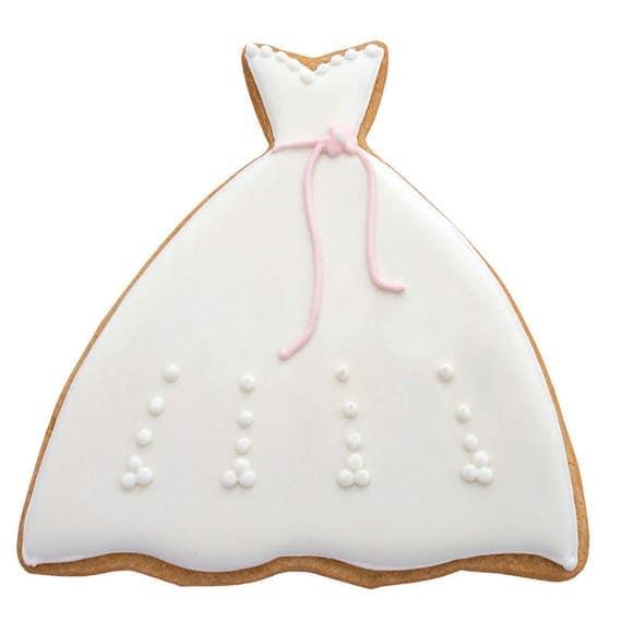 Wedding dress cookie cutter from kakekuppery on etsy studio for Wedding dress cookie cutters
