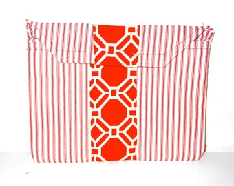 SALE!  Clutch Bag -Red and White Clutch Bag