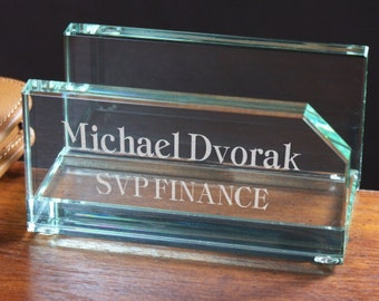 Engraved Business Card Holder-Personalized Business Card Holder
