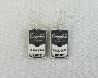 Campbell's black bean soup Earrings